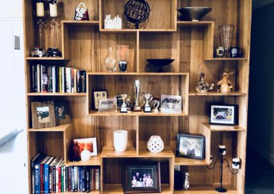 blackbutt bookcase